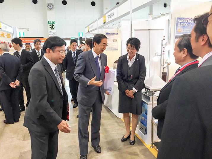 西川福井県知事と海道副社長